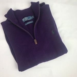 Polo | Size L. Quarter Zip Knit Pull Over Sweater